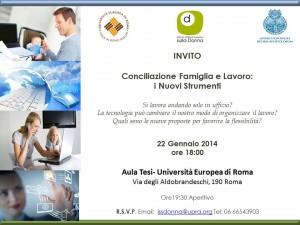Invito 22 Gennaio 2014