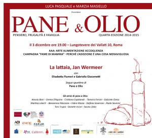 INVITO PANE E OLIO 3 DICEMBRE 2014