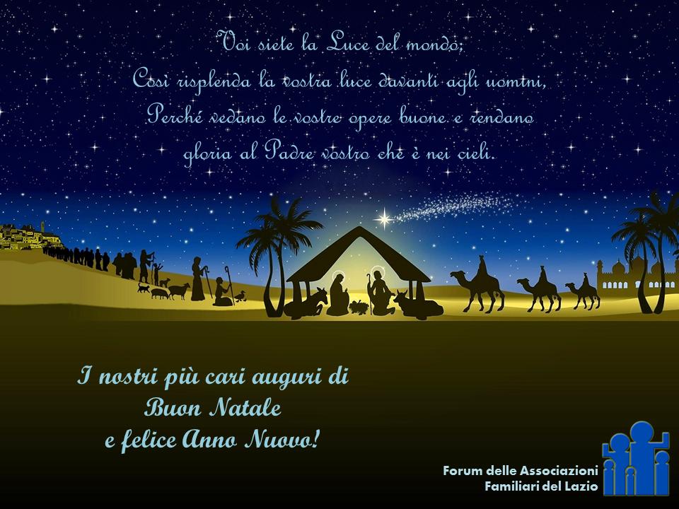 Auguri Di Buon Natale Alla Famiglia.Auguri Di Buon Natale Forum Delle Associazioni Familiari Del Lazio