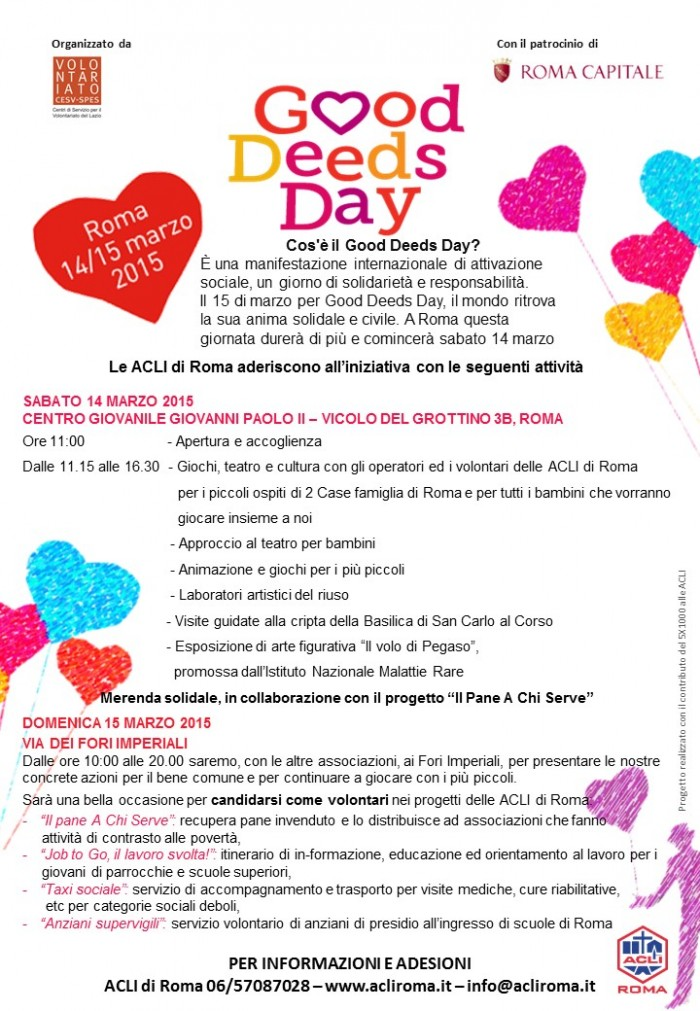good deeds day acli roma