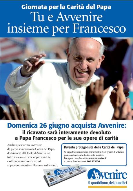 Locandina Carità Papa