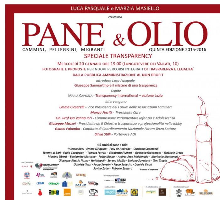 INVITO PANE E OLIO 20 gennaio 2016 LOW